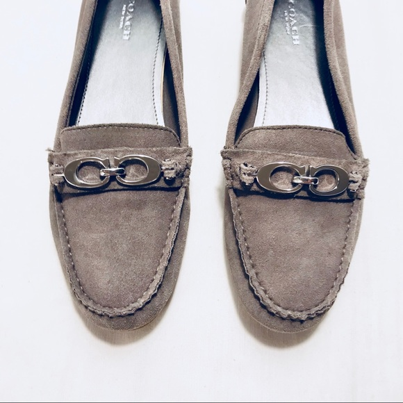 843689ec441 Coach Shoes - Coach Fortunata Gray Suede Driving Loafers size 8